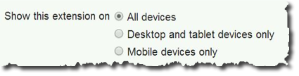 Google Adwords - Device Settings