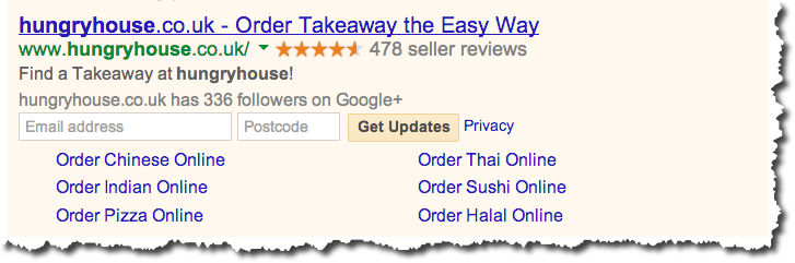 Hungryhouse - Google Adwords ad