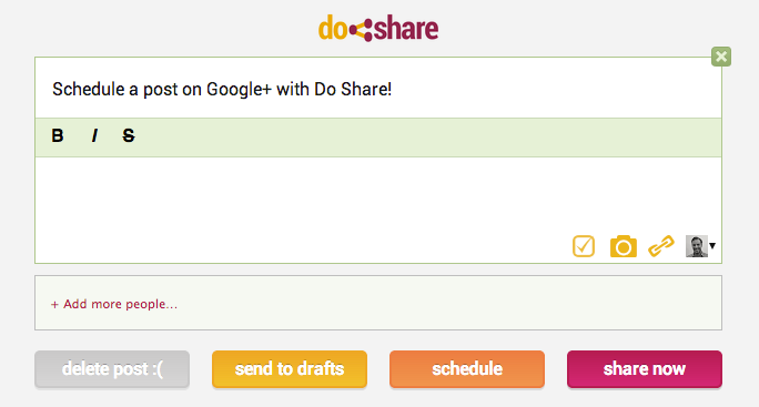 Do Share - Schedule Google+ Posts
