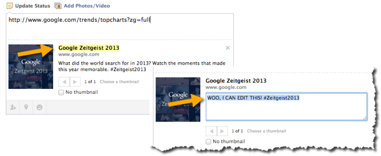 Facebook Editing Tip