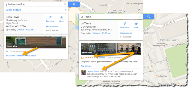 Reviews and ratings - Google Maps