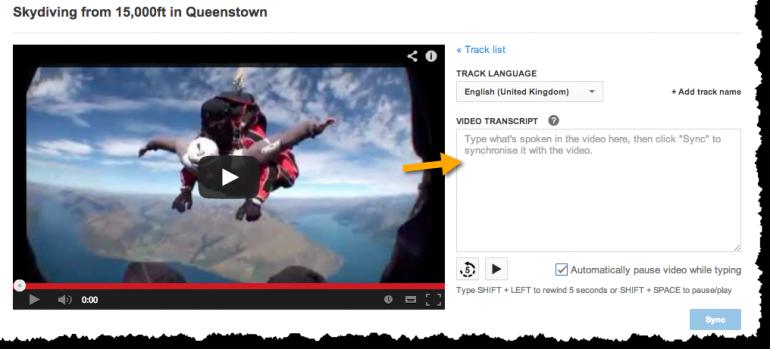 YouTube transcript - optimising videos tip