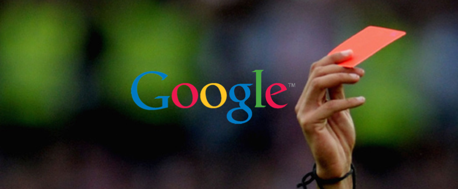 Google Penalty - Red Card