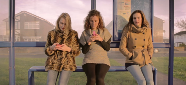 Look Up - Anti-Social Media Video - Girl At Bus Stop