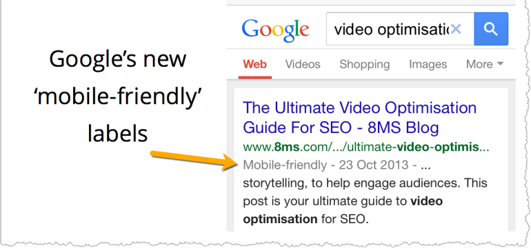 Google's New ' Mobile-Friendly' SERP labels