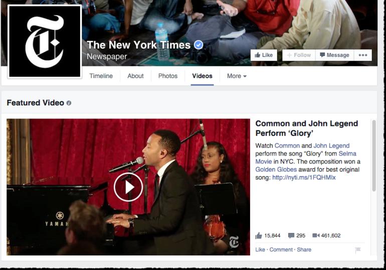 Facebook Featured Video - 2015