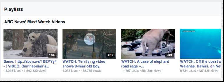 Facebook Video Playlist Feature