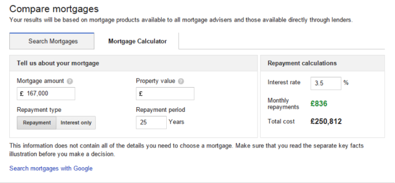 Compare Mortgages - Google