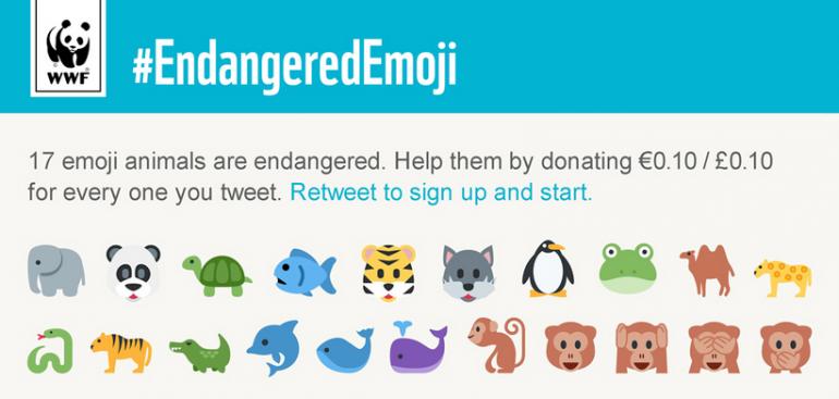 WWF - Endangered Emoji Campaign