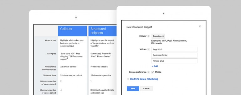 Google Adwords New Structured Snippet - 8MS