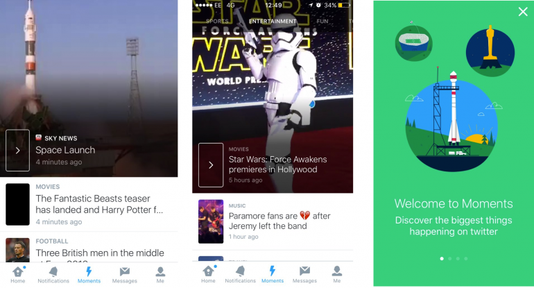 Twitter Launches Moments On Mobile Devices