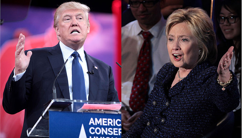 Donald Trump vs Hilary Clinton Presidential Race