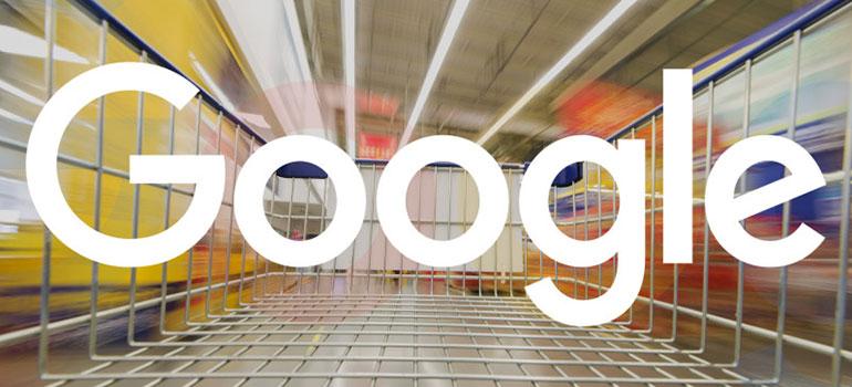 Google Shopping header