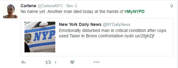 NYPD hashtag #askACop