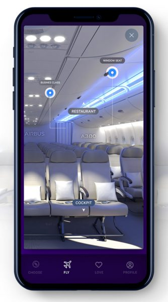 Airbus IFLY A380 Mobile application