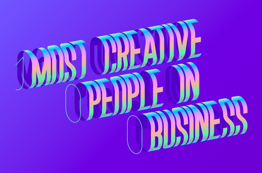 Custom typography for Fast Company magazine by Mohamed Samir