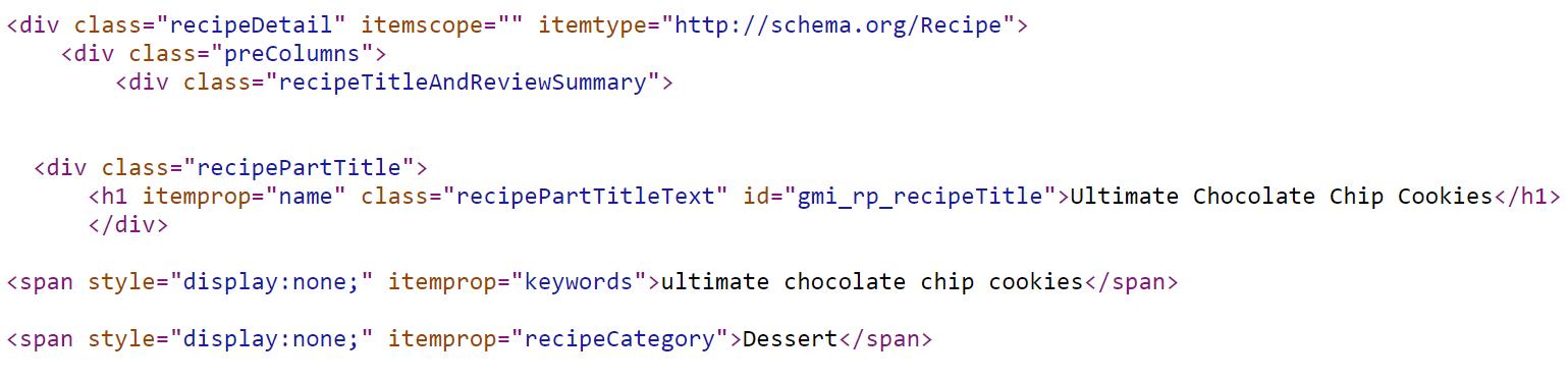 Betty Crocker Cookies Schema Code