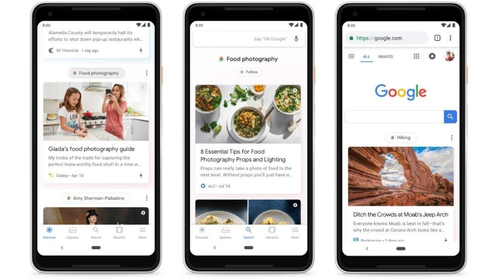 Google Discover Display